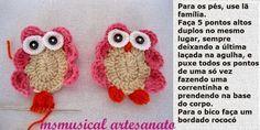 Crochet Owls, Crochet Home, Baby Blanket Crochet, Crochet Baby, Crochet Designs, Doilies, Crochet Projects, Diy And Crafts, Crochet Earrings