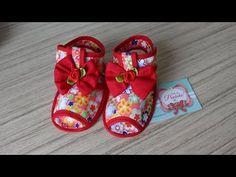 Sandália para bebê  passo a passo com Arte de paninho