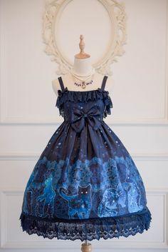 Secret Garden Lolita -A Constellation of Cats.Hecate- Lolita Jumper Dress