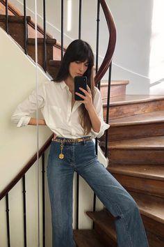 Angels Skinny tendance slim fit jeans dans superbe Rubis-Rouge