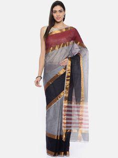 Buy The Chennai Classicate Grey Pure Cotton Solid Venkatgiri Saree - - Apparel for Women Grey Saree, Cotton Saree, Chennai, Sari, Pure Products, Women, Style, Fashion, Saree