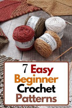 Easy Beginner Crochet Patterns, Crochet Stitches For Beginners, Beginner Crochet Projects, Crochet Basics, Knitting Projects, Tunisian Crochet, Learn To Crochet, Beginning Crochet, Yarn Crafts