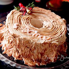 今年はシフォンケーキをチョコクリームでコ