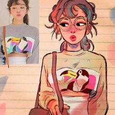 des inconnus en personnages de manga par Toonimated  Dessein de dessin