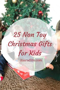 Our house is always in toy overload - here are some great gift ideas that aren't toys!