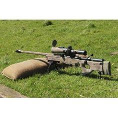 A British Army Arctic Warfare Magnum L115A3 sniper rifle. 14 x 11 Poster