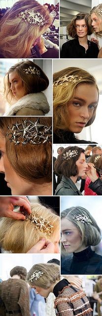lusting over the star hair pieces from Rodarte's Fall 12-13 show