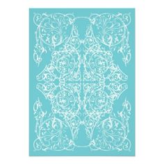Shop Corner Flourish Wedding Invitation Blue) created by Personalize it with photos & text or purchase as is! Blue Wedding Invitations, Tiffany Blue, Flourish, Blue Backgrounds, First Love, Wedding Day, Tapestry, Create, Corner