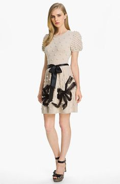 RED Valentino Bow Detail Knit Dress | #Nordstrom #falltrends
