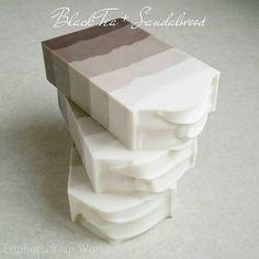 Black Tea + Sandalwood silk soap