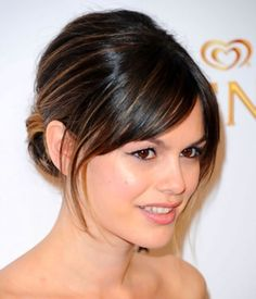 Rachel Bilson - Updos For Medium Length Hair with Bangs I really need to get some styles that are current and look good with my hair length by chrystal
