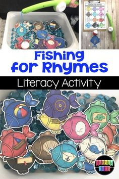 Explore the wonders of the ocean with these math and literacy activities that provide hands-on learning through play for our preschoolers! Rhyming Activities, Preschool Literacy, Art Therapy Activities, Kindergarten, Literacy Skills, Preschool Ocean Activities, Preschool Centers, Class Activities, Preschool Worksheets