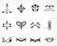 Vecteezy - Art Deco Signs and Ornament Vectors