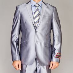 Men's White Two-button Suit | Buttons, Shopping and White suits