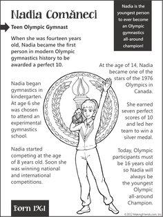 Nadia Comaneci... Teen Olympic Gymnast