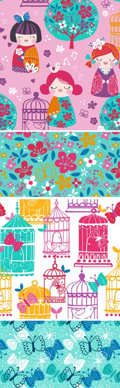 wendy kendall designs – freelance surface pattern designer » cherry blossom garden