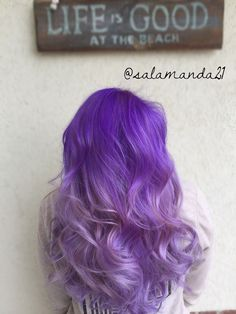Bright purple balayage ombré done by me Manda Halladay  @salamanda21