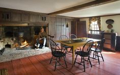 Inglenook, a 327-year-old brick seat inside the large fireplace.