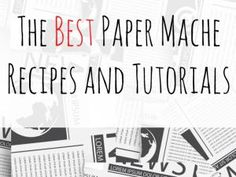 Check out these paper mache (papier mache) recipes and projects. This is a great… Check out these paper mache (papier Paper Mache With Glue, Paper Mache Diy, Paper Mache Paste, Paper Mache Bowls, Making Paper Mache, Paper Mache Projects, Paper Mache Sculpture, Diy Paper, Paper Crafting