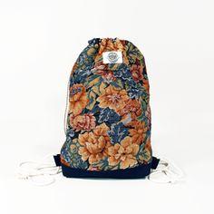 Floral Fever Drawstring Bag #themidnightfactory #handmade #drawstringbag
