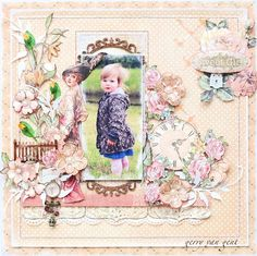 Sweet girl GDT ~Scrap of Elegance~The photo doesn't quite fit the layout, but I love the layout.