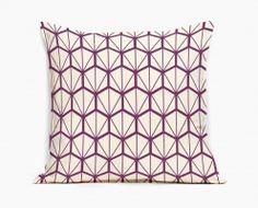 Coussin Design Fragments violet