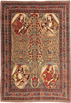 Persian pictorial rugMore Pins Like This At FOSTERGINGER @ Pinterest