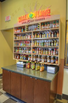 Over 75 hot sauces to choose from and try.