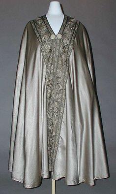 Cape Design House: Liberty & Co.  Date: 1915–20 Culture: British Medium: silk, metal thread Accession Number: C.I.41.84