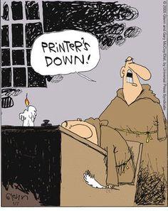 Printer's down:Catholic Humor and memes Funny Shit, The Funny, Funny Jokes, Hilarious, Funny Gifs, Humor Religioso, Grammar Humor, Humor Cristiano, Church Humor