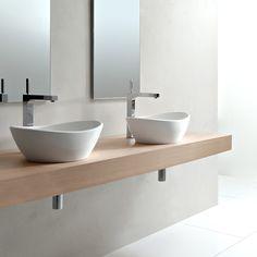 Robertson Supply - Victoria And Albert - - Amalfi 55 countertop basin Bathroom Inspiration, Polished Bathroom, Slipper Bath, Sink, Bathroom Sink, Amazing Bathrooms, Bathroom Basin, White Vessel Sink, Tile Bathroom