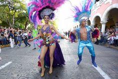 Los reyes del Carnaval de Mérida en el 'Desfile de niños'.