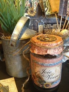 French Country garden accessories: receiving something homemade in this jar would be magical