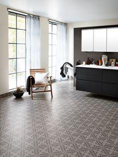 Aquarelle Designgolv 3 m - Tarkett Loft Bathroom, Bathroom Inspo, Bathroom Inspiration, Bathroom Ideas, Bathrooms, Hall Flooring, Grey Flooring, Tile Floor, Istanbul