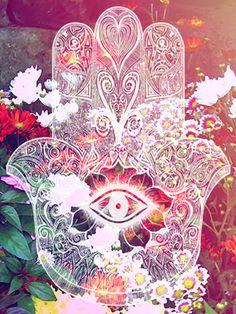 Hand of fatima / Die Hand der Fatima ॐ Hand Der Fatima, Psy Art, Hamsa Hand, Psychedelic Art, Sacred Geometry, Trippy, Oeuvre D'art, Illustration, Iphone Wallpaper