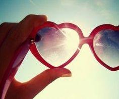 pink heart sunglasses #sky #sunshine #sunglasses #heart