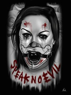 Speak No Evil by Charlie Medina Woman Ball Gag BDSM Canvas Art Print – moodswingsonthenet