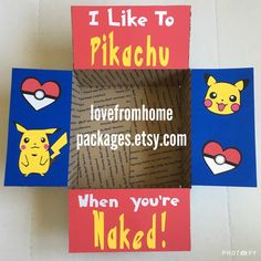 Pikachu Pokemon military Care Package Flaps by LoveFromHomePackages