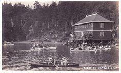 """The Free"" Bathing House, Gorge Park, Victoria, BC, c.1920; ""Gorge Pk. Victoria, B.C.""; https://www.flickr.com/photos/45379817@N08/19136511455"