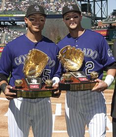 Carlos Gonzalez #5 - OF & Troy Tulowitzki - #2 - SS - Colorado Rockies