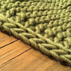 Comment tricoter une bordure verticale i-cord!