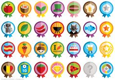 Icons & Badges for Foodzy.com.   An online game and app for Android & Iphone.