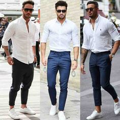 White shirt and sneakers from @streetfashionchannel  Which look do you prefer?