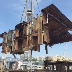 This big part is use it be where the elevators was and removed from the wreckage of costa concordia