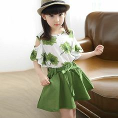 summer children clothing maple skirt sports girls clothing set 2019 new print skirt suit years old baby clothes Wholesale Clothing Online Store. We Offer Top Good Quality Cheap Clothes For Women And Men Clothing Wholesaler, # Baby Outfits, Girls Summer Outfits, Little Girl Dresses, Summer Girls, Kids Outfits, Girls Dresses, Girls Wear, Fashion Kids, Fashion Clothes