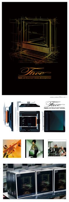 "TOSHIBA ""FACE"" LCD TV|Art Direction, VI, Ad Design|CLIENT: TOSHIBA CORPORATION /  Realfleet Co., Ltd"