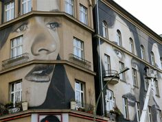 Street Artist Illustrates Beauty And Decay With This Massive Multi-Story Mural - DesignTAXI.com