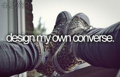 Bucket list - design my own converse