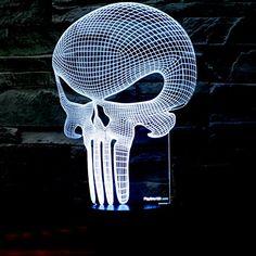 3D Punisher Skull Lighting - $30                                                                                                                                                     More