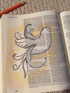 Holy Spirit bible journaling